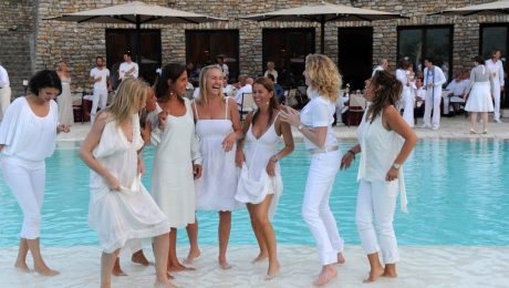 white party pool theme party
