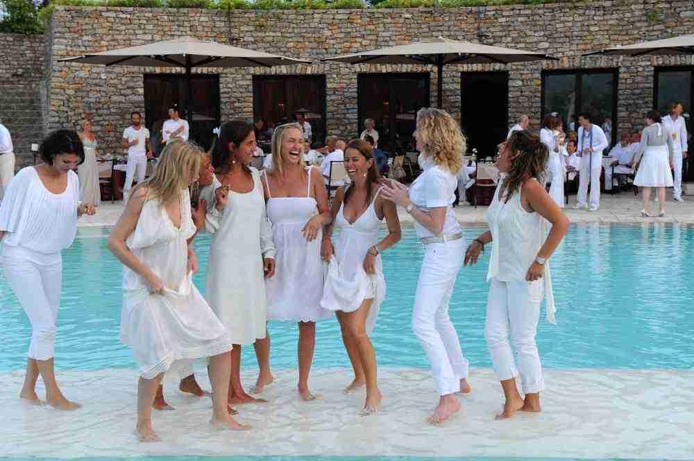 white party pool theme party