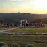 wedding ceremony at sunset tuscany
