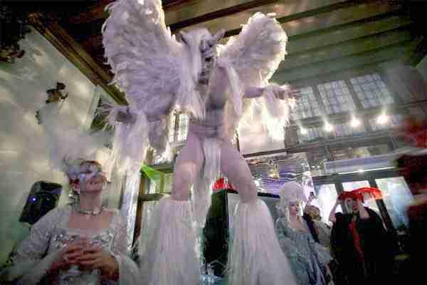 venezia masquerade gala ball on stilts